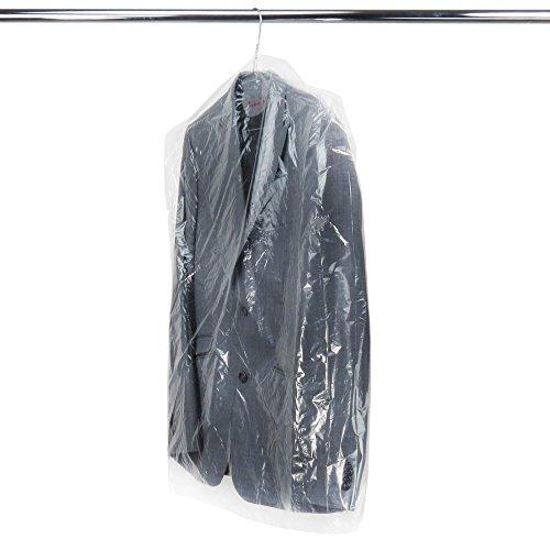 HANGERWORLD 50 Durchsichtige Kleidersäcke 102x51x10cm Polyethylen Kleiderhüllen 0,02mm Folienstärke