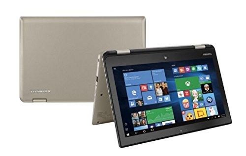 "Toshiba Satellite Radius 11 L15W-B1208X 11.6"" Laptop, Touchscreen, 2-in-1, Windows 10 Home, Intel Pentium N3540 Processor, 4GB RAM, 500GB HD, Satin Gold"