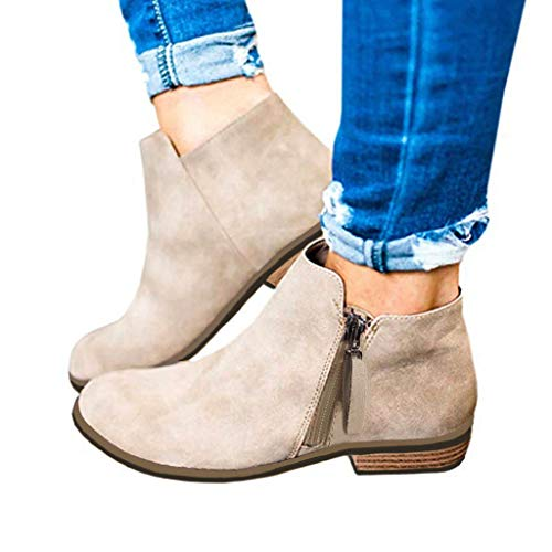 Boots Round Toe Rome Retro Flock Leather Ankle Booties Short Ankle Boots Flat Shoes Women s Fashion Casual Boots Kaitobe