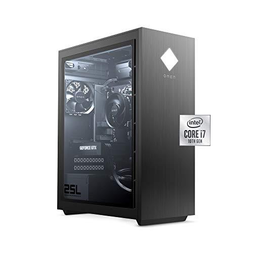 OMEN 25L Gaming Desktop PC, NVIDIA GeForce RTX 2060, Intel Core i7-10700F,...
