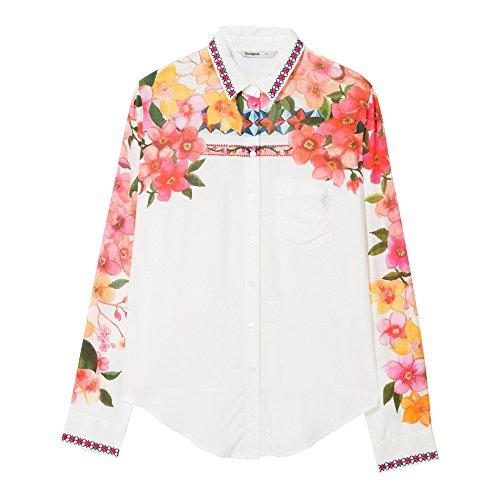 Desigual Damen Cam_Laurene Hemd, weiß, Groß