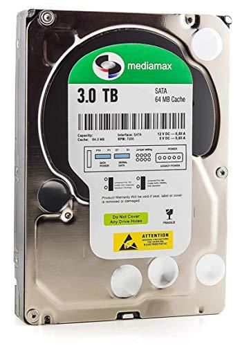Mediamax 3TB interne Festplatte HDD, 3,5 Zoll SATA III, 6.0 Gb/s Cache 64MB, RPM: 7200 (U/min), 3000GB, WL3000GSA6472G, SATA Festplatte intern, Backup Festplatte für Desktop PC, Gaming Computer