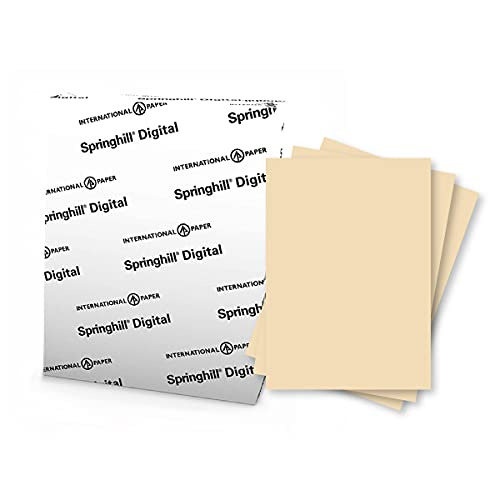 Springhill 8.5� x 11� Tan Copy Paper, 24lb Bond/60lb Text, 89gsm, 5,000 Sheets (10 Reams) � Colored Printer Paper with Smooth Finish � Versatile and Flexible Computer Paper � 024043R