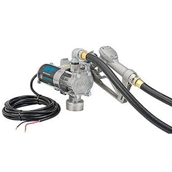 GPI - EZ-8 12v Fuel Transfer Pump Manual Shut-Off Nozzle 8 GPM Fuel Pump 10  Hose Power Cord Adjustable Suction Pipe  137100-01