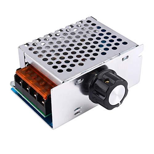 SALUTUYA Regulador de Voltaje de CA SCR Motor de Voltaje electrónico Fuente de alimentación Motor de Control de Velocidad, para Motor pequeño, para Horno eléctrico, para Control de Temperatura de
