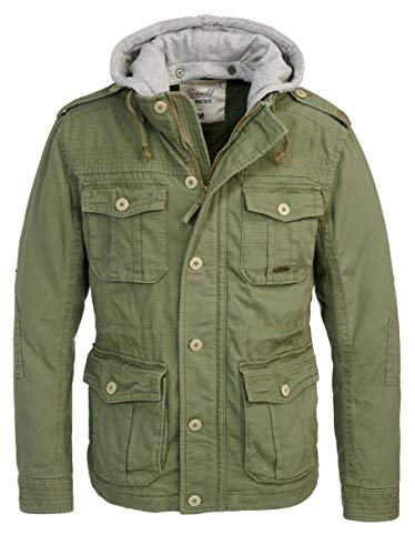 Brandit Urban Vintage Parka Sweathood Jacke (Oliv-Grey, XXL)