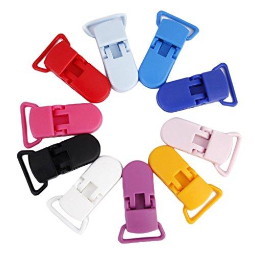 Wady 10pcs Clip Pince pour Attache-sucette Bretelle Accessoire DIY 5 Couleurs