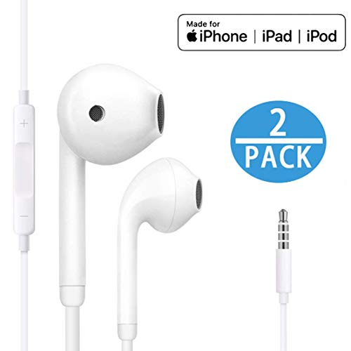 【2Pack】 for iPhone Earphone with 3.5mm Headphone Plug,Earphones Headset...