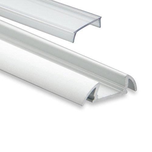 P17 Botein Aluminium Profil Alu Profil mit Flügel LED Profil 2 meter klar (durchsichtig)