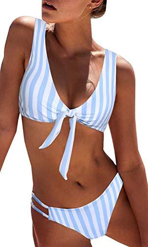 heekpek Donne Costume Intero Trikini Donna Mare Bikini Vita Alta Swimwear One Piece Schienale Esposto Costumi da Spiaggia Trikini