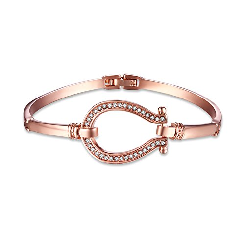 Horseshoe Bangle Bracelet Rose Gold