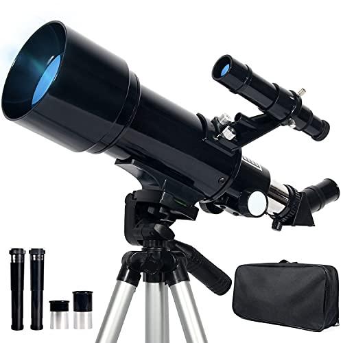 Upchase Telescopio Astronomico, 400/70mm Telescopio Rifrattore, Adatto per...