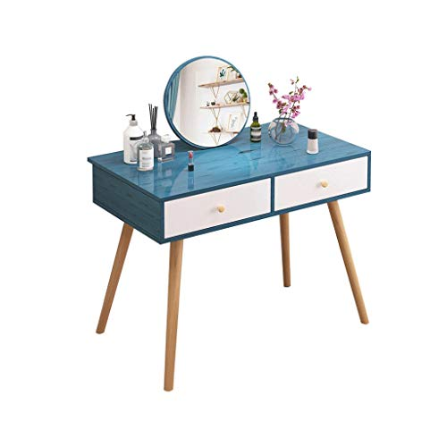 Dressing tafel eenvoudige slaapkamer moderne kaptafel met spiegel lade kleedkast(100x40x75cm) HAODAMAI