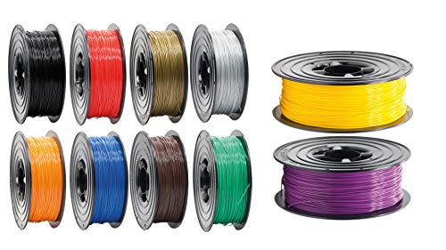 PLA Filament 1,75mm 3D Drucker oder Stift 10 er Set 10x 1Kg viele Farben