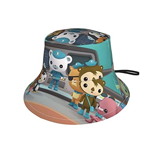 LoveOnHead - Berretto per bambini con fascia per il mento regolabile, protezione solare per bambini, per attività all'aria aperta, da viaggio, Octonauts Nero L