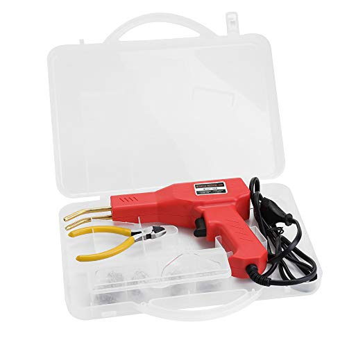 KKmoon 50W Soldadura de Plástico Máquina Grapadoras de Caliente Plástico Soldadura Kit de Reparación de Parachoques de Coche Herramienta de Reparando Soldadura de Grapadora Plástico