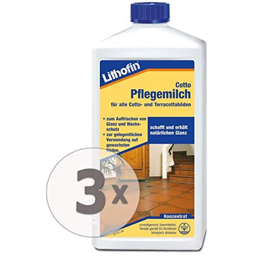Lithofin Cotto Pflegemilch 3 l - Glanzauffrischung - lösemittelfrei - wachshaltig - polierbar