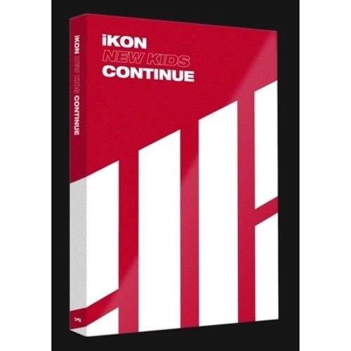 iKON - [New Kids Continue] Album Red Ver CD+88p PhotoBook+1p Accordion Postcard+1p PhotoCard K-POP Sealed