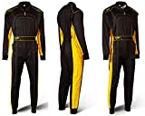 Speed Racewear - Tuta kart da corsa Nero e Giallo - Karting Suit - Tuta Stile Formula 1 (XL)