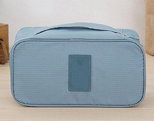 Sac étanche Multifonction Sacs De Tri Des Sous-vêtements Soutien-gorge Vêtements De Poche Voyage Portable à Main,Blue