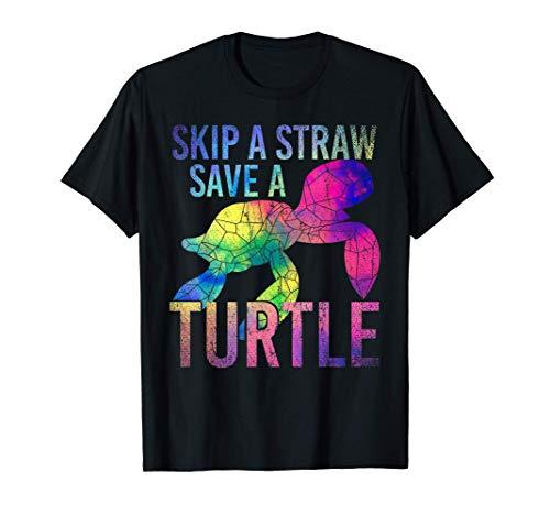 Benessere Degli Animali Oceano Mare Cannuccia Tartaruga Maglietta