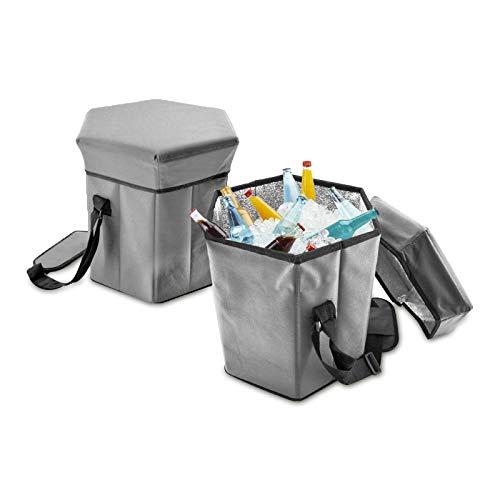 Eaxus®️ 2-in-1 Kühltasche Groß 35x35x36cm 40L Isoliertasche Campingtasche Kühlbox Picknicktasche. Hält den Inhalt Kalt oder Warm