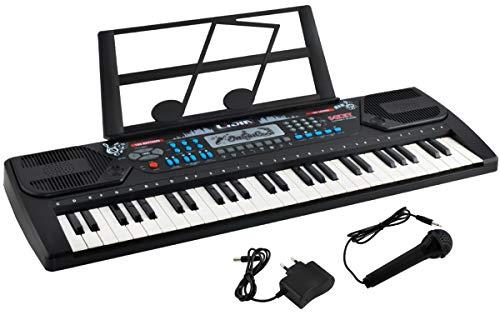 Iso Trade Digital Tragbares Keyboard mit 54 Tasten und Notenständer 10 Songs 3 Soundeffekte 32 Schrittstufen 8238