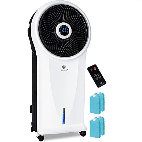 KESSER® 4in1 Mobile Klimaanlage Klimagerät mit Fernbedienung | Ventilator | 5,5L Wassertank | Timer | 3 Stufen | Ionisator Luftbefeuchter | Luftkühler | LED-Bildschirm, 3 Betriebsmodi, Weiß