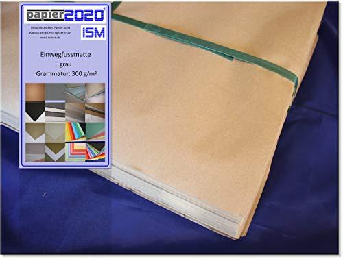 Papier 2020 50 Stück Einwegfussmatten; 375 x 500mm; 270g/m²