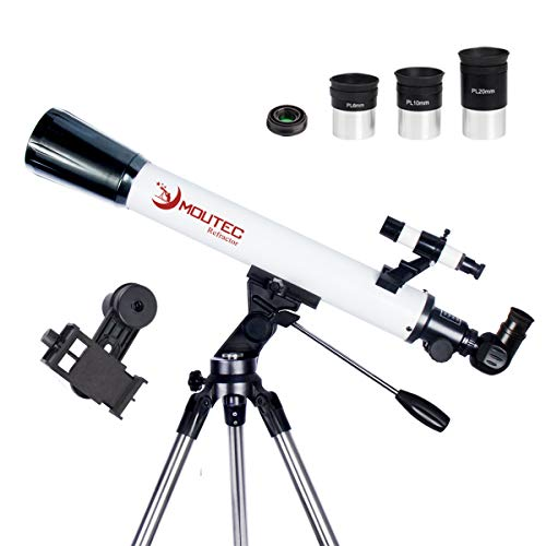 Moutec 70/700 Refractor Telescope for Astronomy - 35-350x Portable Travel Scope...
