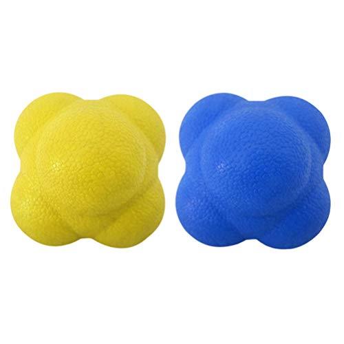 LIOOBO Bola de Reacción de 2 Piezas de Pelota de Reacción Bola de Entrenamiento para Velocidad Agilidad