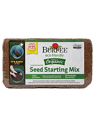 Burpee Organic Coconut Coir Concentrated Seed Starting Mix, 16 Quart