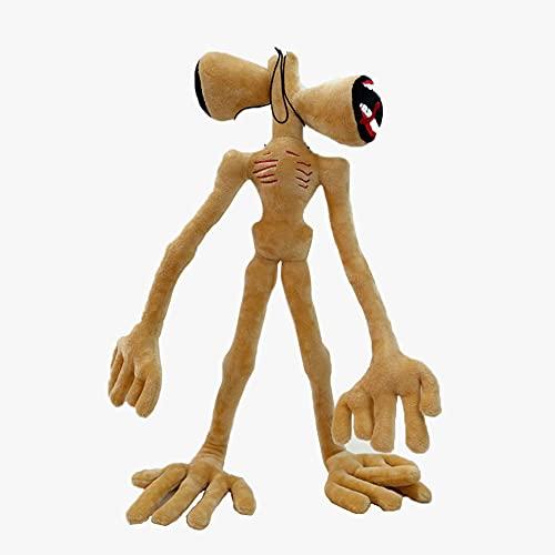 Jiumaocleu Siren Head Muñeco de peluche de juguete 55 CM Muñeco de terror Almohada de felpa Accesorios de terror de Halloween Sala de estar Oficina Decoraciones al aire libre (marrón)