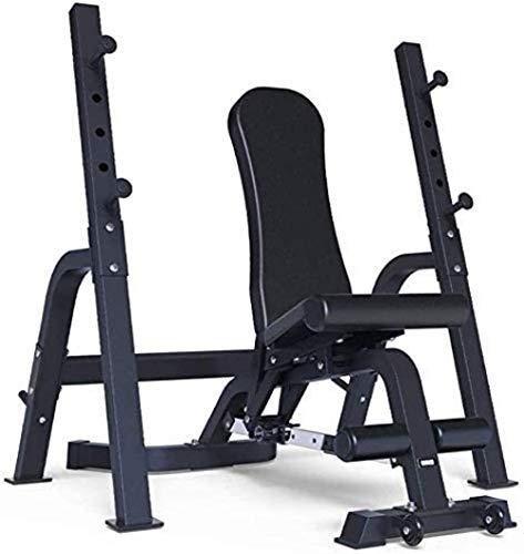 mjj Banco de pesas, mesa de pesas, banco de pesas multifuncional, banco de pesas, banco de pesas negro, 147 x 74 x 50 cm