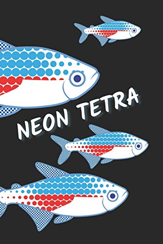 Neon Tetra: Fish Keeping Journal / Sketchbook / Notebook/ Aquarium Logbook for record Water Tests and Changes, Treatments / squared grid paper (6x9 in)