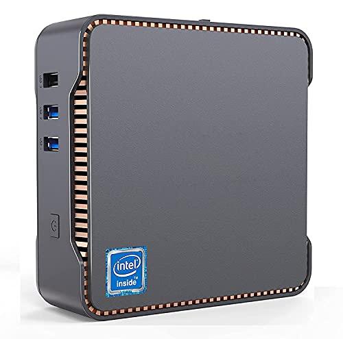 Mini PC, 8 GB DDR4 + 128 GB SSD Intel Celeron J4125 Processore (fino a 2,7 GHz) Windows 10 Mini Desktop, Wi-Fi Dual Band 2.4G/5G, 2 porte HDMI+1 VGA BT4.2, 4 K HD Mini PC