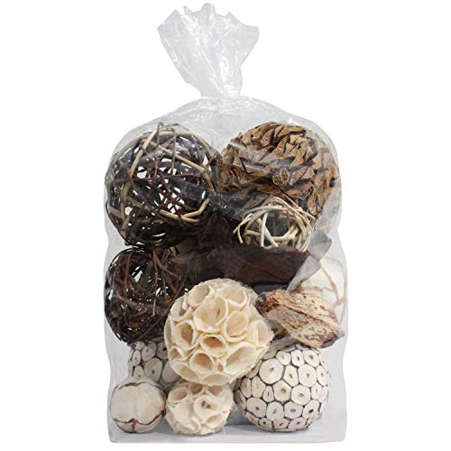 Blue Donuts Decorative Balls for Centerpiece – Decorative Bowl Fillers, Assorted Rattan Wicker Balls Orb Grapevine Ball, Vase Fillers, Table Decor
