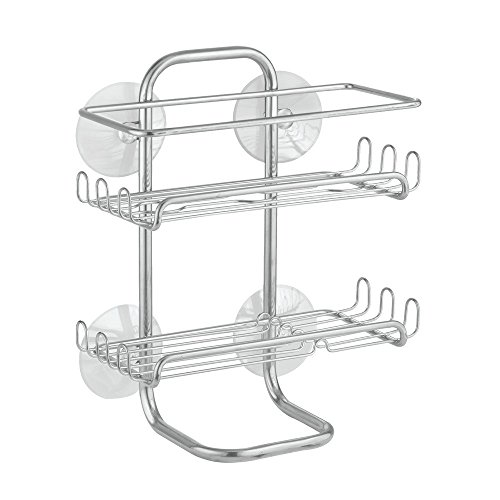 Price comparison product image iDesign Classico Suction Shower Shelves,  Satin