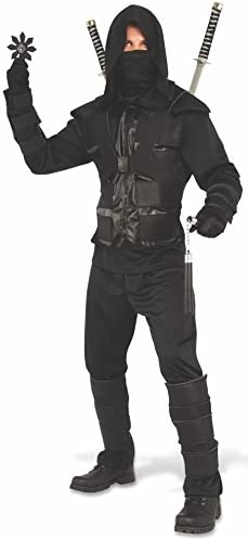 Rubie s Men s Dark Ninja Adult Sized Costumes As Shown Extra Large US product image