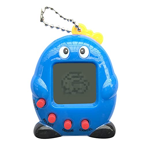 Virtual Pet Electronic Toy  Nostalgic 90s Toy for Kids of All Ages  Mobile and Compact  Funny Keyring Electronic Toys Gift (Blue)