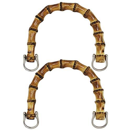 Retro Monedero Bolsa Cierre de Beso Bloqueo 2 piezas Bambú Arco Marco Monedero de Beso Para Bolsas de Costura, Artesanía