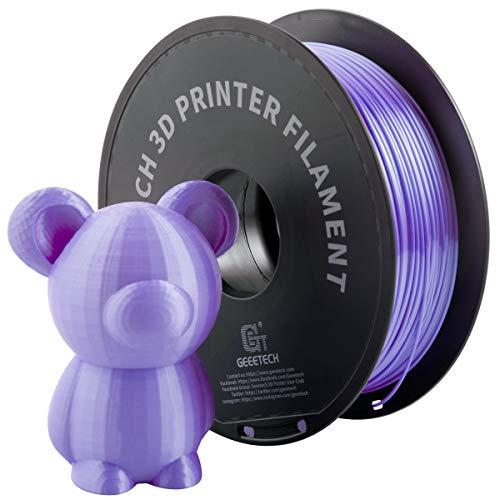 GIANTARM Filamento PLA 1.75mm Silk Púrpura, Impresora 3D PLA Filamento 1 kg Carrete