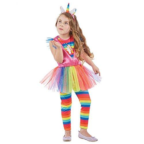 Rubies eenhoorn pak, 3-delig Kleurrijke jurk kinderen carnaval 128 meerdere kleuren