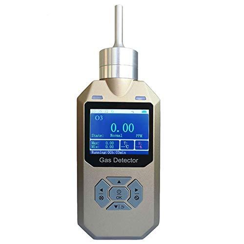 Detector de ozono | Analizador portátil para monitor de gas O3 | carcasa de aluminio resistente | a prueba de agua, polvo y explosión | batería recargable por USB, alarmas ajustables | 0-20 ppm