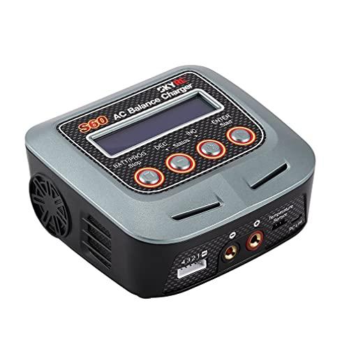 SK-100106-02 S60 60W / 6A Descargador de Cargador de Equilibrio de CA Inteligente para LiPo Grey EU