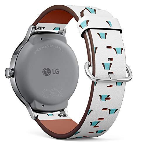 Compatible con LG Watch Style, Correa de Reloj de Cuero con