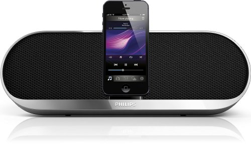 Philips DS7580 Charging Speaker Dock for iPhone 5 with Lightning Dock and 3.5mm Audio Input