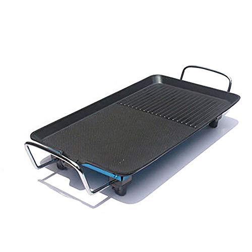ZR 110-220V Cuisine Plaque de Cuisson électrique Teppanyaki Surface Non-adhésive Plaque chauffante 1500W température (Size : L)