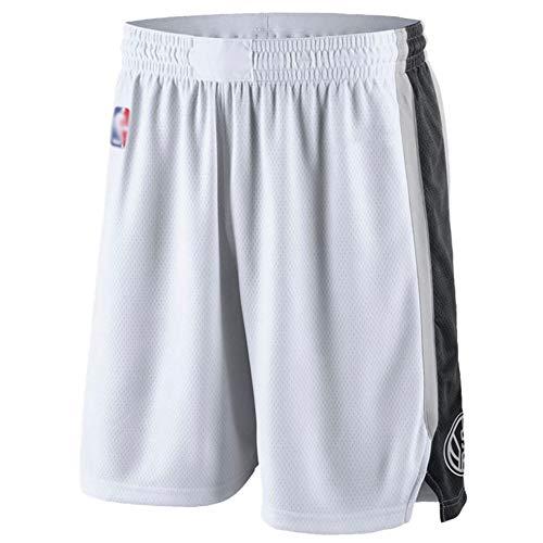 Pantaloncini da basket San Antonio Spurs, pantaloncini da basket da uomo ricamati da uomo, tessuto elasticizzato professionale, traspirante, traspirante, pulizia ripetibile è il miglior regalo per gl