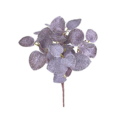 Yililay Artificial Plant Branch Simulation Eucalyptus Leaf Greenery Decorative Leaves for Wall Matching Wedding Road Guide Props